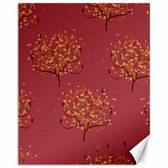 Beautiful Tree Background Pattern Canvas 11  X 14