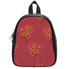 Beautiful Tree Background Pattern School Bags (small)