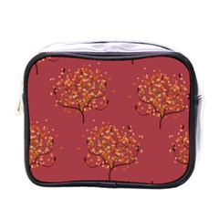 Beautiful Tree Background Pattern Mini Toiletries Bags
