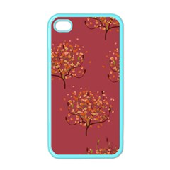 Beautiful Tree Background Pattern Apple iPhone 4 Case (Color)