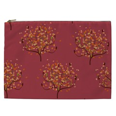 Beautiful Tree Background Pattern Cosmetic Bag (xxl)