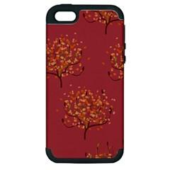 Beautiful Tree Background Pattern Apple Iphone 5 Hardshell Case (pc+silicone)