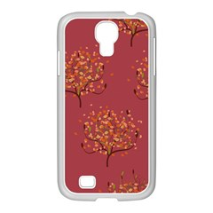Beautiful Tree Background Pattern Samsung GALAXY S4 I9500/ I9505 Case (White)