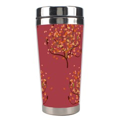 Beautiful Tree Background Pattern Stainless Steel Travel Tumblers