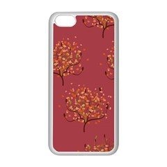 Beautiful Tree Background Pattern Apple iPhone 5C Seamless Case (White)
