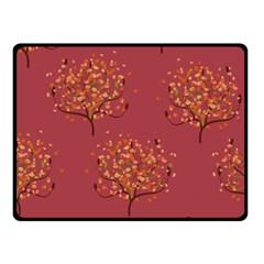 Beautiful Tree Background Pattern Double Sided Fleece Blanket (Small)