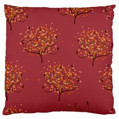 Beautiful Tree Background Pattern Large Flano Cushion Case (Two Sides)