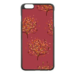 Beautiful Tree Background Pattern Apple Iphone 6 Plus/6s Plus Black Enamel Case