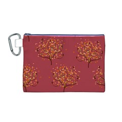 Beautiful Tree Background Pattern Canvas Cosmetic Bag (M)