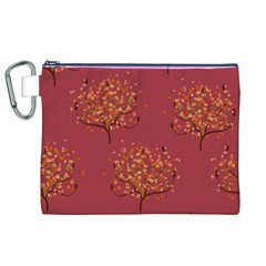 Beautiful Tree Background Pattern Canvas Cosmetic Bag (XL)