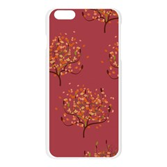 Beautiful Tree Background Pattern Apple Seamless iPhone 6 Plus/6S Plus Case (Transparent)
