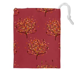 Beautiful Tree Background Pattern Drawstring Pouches (xxl)