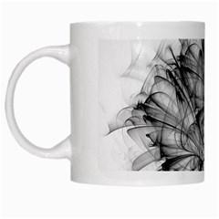 High Detailed Resembling A Flower Fractalblack Flower White Mugs