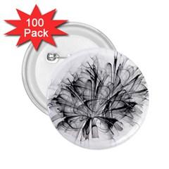 High Detailed Resembling A Flower Fractalblack Flower 2.25  Buttons (100 pack)