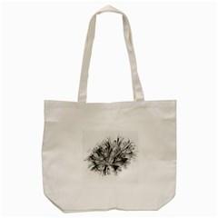 High Detailed Resembling A Flower Fractalblack Flower Tote Bag (Cream)