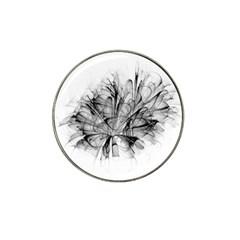 High Detailed Resembling A Flower Fractalblack Flower Hat Clip Ball Marker (10 pack)