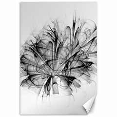 High Detailed Resembling A Flower Fractalblack Flower Canvas 12  X 18