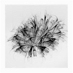 High Detailed Resembling A Flower Fractalblack Flower Medium Glasses Cloth