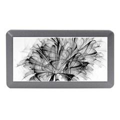 High Detailed Resembling A Flower Fractalblack Flower Memory Card Reader (Mini)