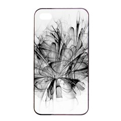 High Detailed Resembling A Flower Fractalblack Flower Apple iPhone 4/4s Seamless Case (Black)