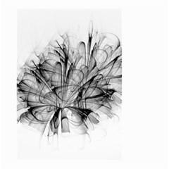 High Detailed Resembling A Flower Fractalblack Flower Small Garden Flag (Two Sides)