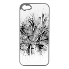 High Detailed Resembling A Flower Fractalblack Flower Apple iPhone 5 Case (Silver)