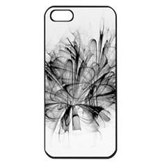 High Detailed Resembling A Flower Fractalblack Flower Apple iPhone 5 Seamless Case (Black)