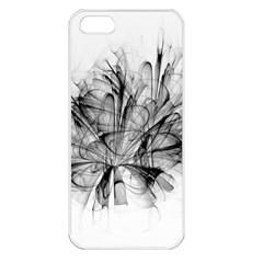 High Detailed Resembling A Flower Fractalblack Flower Apple iPhone 5 Seamless Case (White)