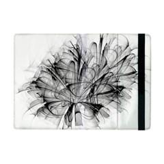 High Detailed Resembling A Flower Fractalblack Flower Apple iPad Mini Flip Case
