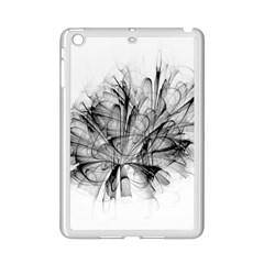High Detailed Resembling A Flower Fractalblack Flower iPad Mini 2 Enamel Coated Cases