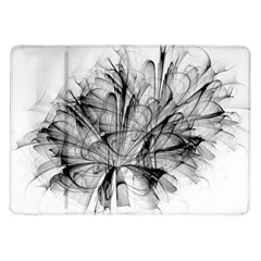 High Detailed Resembling A Flower Fractalblack Flower Samsung Galaxy Tab 10.1  P7500 Flip Case