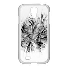 High Detailed Resembling A Flower Fractalblack Flower Samsung GALAXY S4 I9500/ I9505 Case (White)
