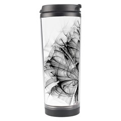 High Detailed Resembling A Flower Fractalblack Flower Travel Tumbler