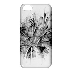 High Detailed Resembling A Flower Fractalblack Flower Apple Iphone 5c Hardshell Case