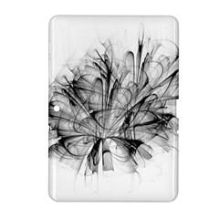 High Detailed Resembling A Flower Fractalblack Flower Samsung Galaxy Tab 2 (10.1 ) P5100 Hardshell Case