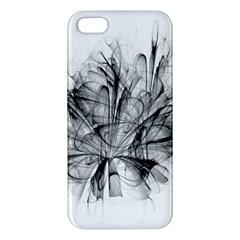High Detailed Resembling A Flower Fractalblack Flower Iphone 5s/ Se Premium Hardshell Case