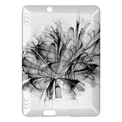 High Detailed Resembling A Flower Fractalblack Flower Kindle Fire HDX Hardshell Case