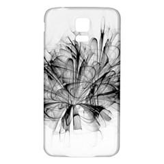 High Detailed Resembling A Flower Fractalblack Flower Samsung Galaxy S5 Back Case (White)