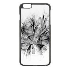 High Detailed Resembling A Flower Fractalblack Flower Apple iPhone 6 Plus/6S Plus Black Enamel Case