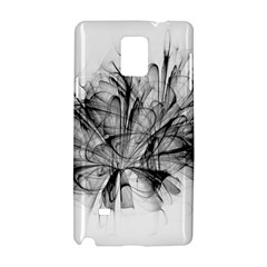 High Detailed Resembling A Flower Fractalblack Flower Samsung Galaxy Note 4 Hardshell Case