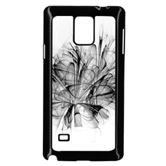 High Detailed Resembling A Flower Fractalblack Flower Samsung Galaxy Note 4 Case (Black)