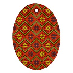 Folklore Oval Ornament (Two Sides)