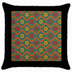 Folklore Throw Pillow Case (Black)