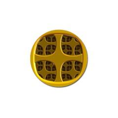 Golden Fractal Window Golf Ball Marker (10 pack)