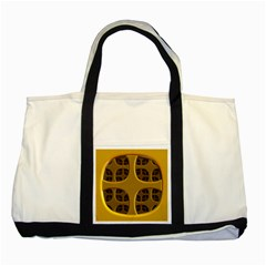 Golden Fractal Window Two Tone Tote Bag