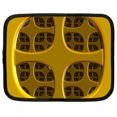 Golden Fractal Window Netbook Case (xl)