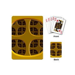 Golden Fractal Window Playing Cards (mini)