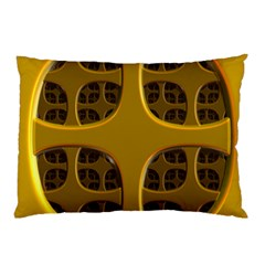 Golden Fractal Window Pillow Case (Two Sides)
