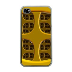 Golden Fractal Window Apple iPhone 4 Case (Clear)