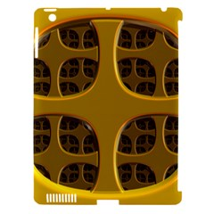 Golden Fractal Window Apple iPad 3/4 Hardshell Case (Compatible with Smart Cover)